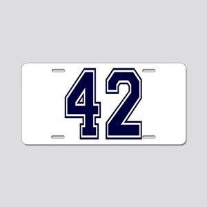blue42 Aluminum License Plate