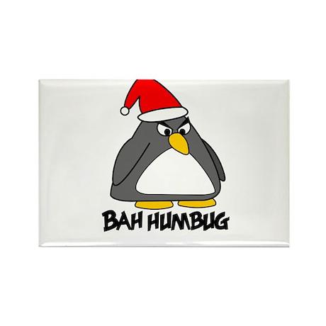 Bah Humbug Penguin Rectangle Magnet