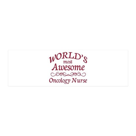 Awesome Oncology Nurse 36x11 Wall Decal