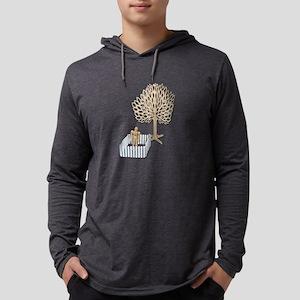 Enclosed Yard and Tree Mens Hooded Shirt