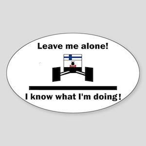 Leave me alone Sticker (Oval)