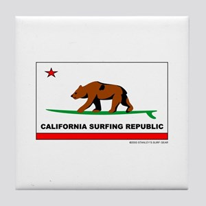 Ca. Surfing Republic Tile Coaster
