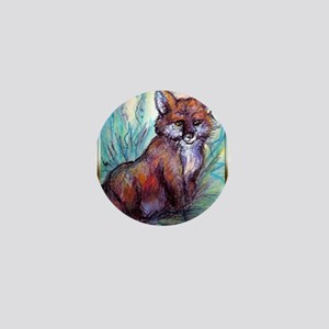 Fox, wildlife art! Mini Button