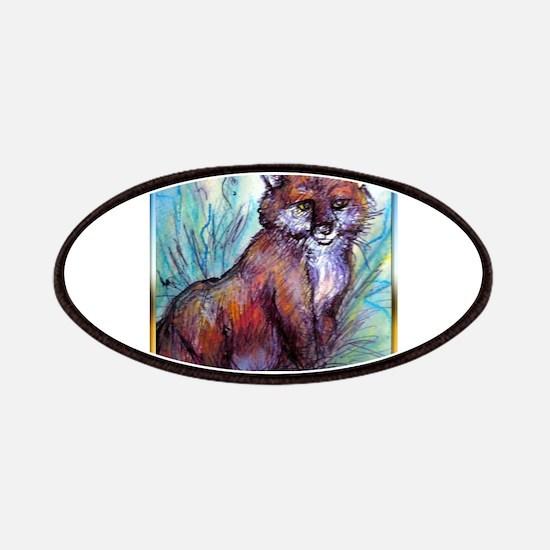 Fox, wildlife art! Patches