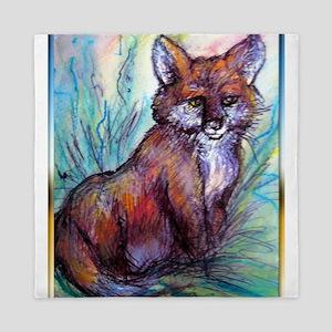 Fox, wildlife art! Queen Duvet