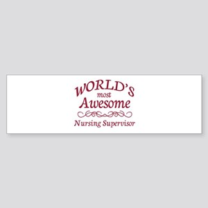 Awesome Nursing Supervisor Sticker (Bumper)