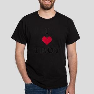 I Love Troy Dark T-Shirt