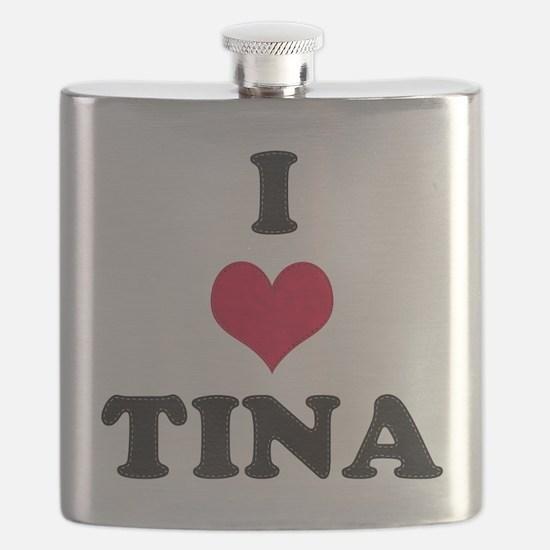 I Love Tina Flask