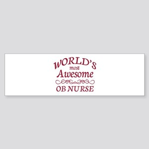 Awesome OB Nurse Sticker (Bumper)