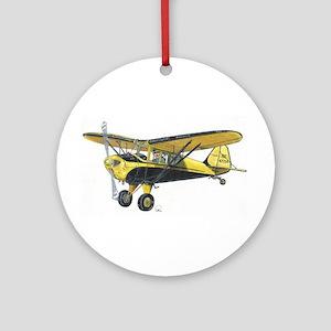 TaylorCraft Airplane Ornament (Round)