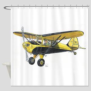 TaylorCraft Airplane Shower Curtain