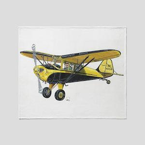 TaylorCraft Airplane Throw Blanket