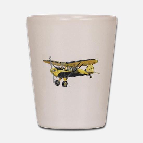 TaylorCraft Airplane Shot Glass