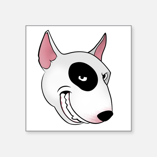 "bull terrier head Square Sticker 3"" x 3"""
