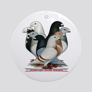 Show Racers Eight Ornament (Round)