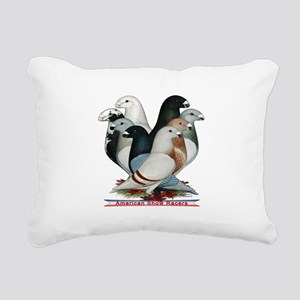 Show Racers Eight Rectangular Canvas Pillow