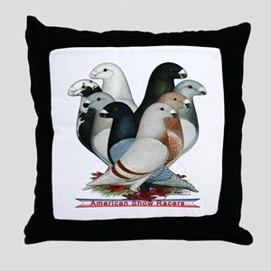 Show Racers Eight Throw Pillow