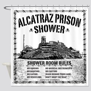 Alcatraz Prison Shower Curtain