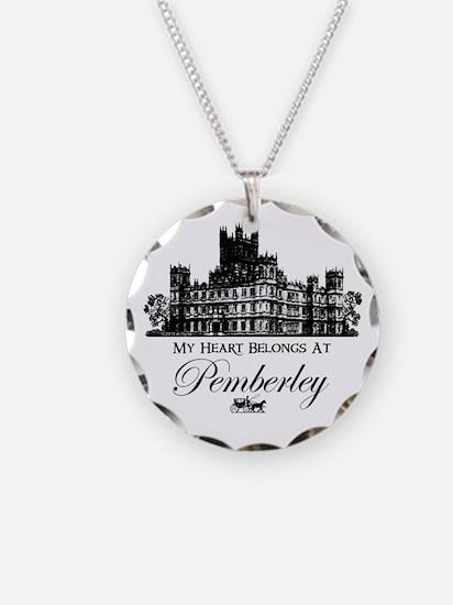 my heart belongs at Pemberley Necklace