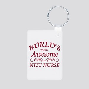 Awesome NICU Nurse Aluminum Photo Keychain