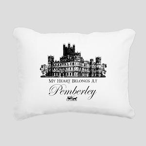 my heart belongs at Pemberley Rectangular Canvas P