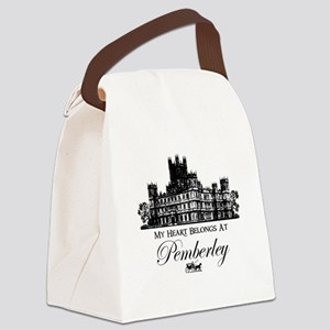 my heart belongs at Pemberley Canvas Lunch Bag