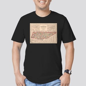 Vintage Map of Tennessee (1859) T-Shirt