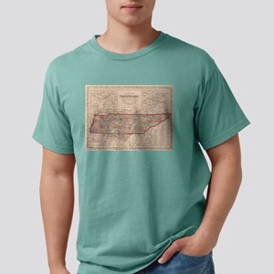 Vintage Map of Tennessee Mens Comfort Colors Shirt