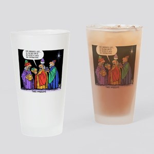 Three Wiseguys Drinking Glass