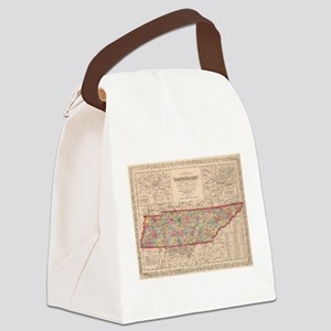 Vintage Map of Tennessee (1859) Canvas Lunch Bag
