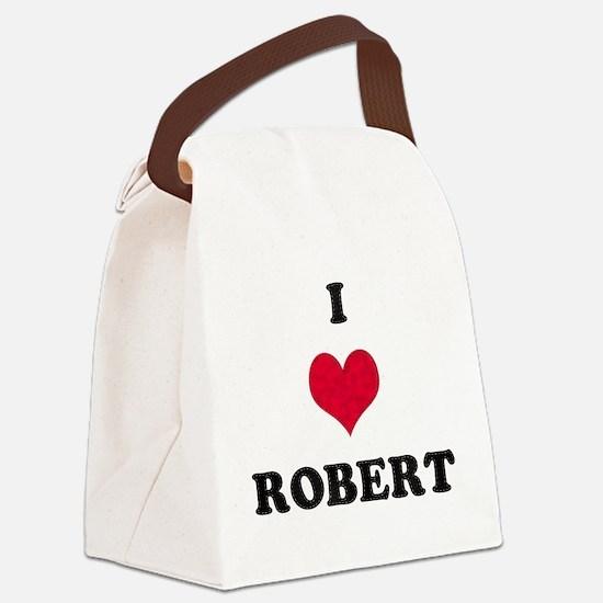 I Love Robert Canvas Lunch Bag
