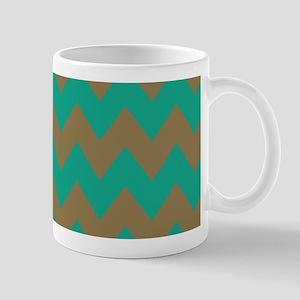 Teal Chevron Stripes Mug