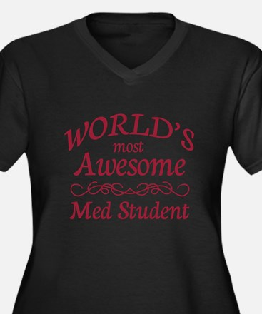Awesome Med Student Women's Plus Size V-Neck Dark