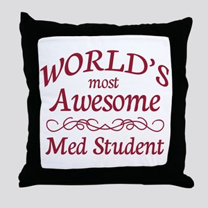 Awesome Med Student Throw Pillow