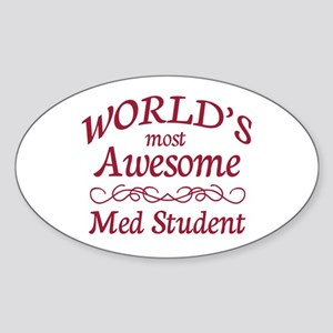 Awesome Med Student Sticker (Oval)