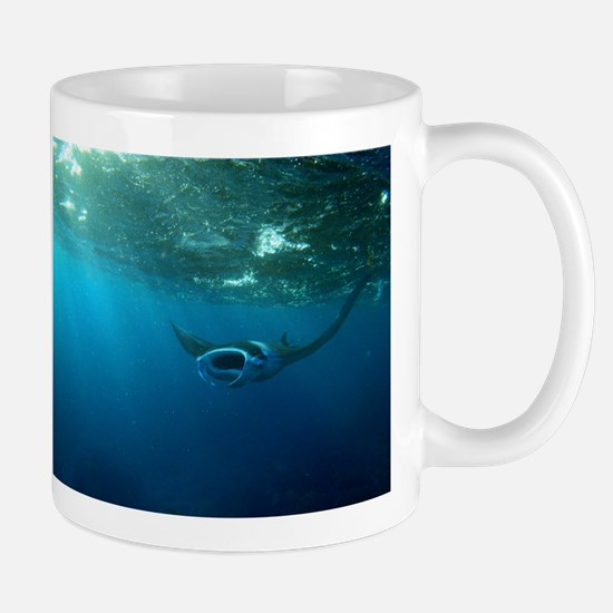 Manta Ray Swims in the water Mug