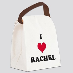 I Love Rachel Canvas Lunch Bag