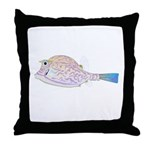 Cowfish fish Throw Pillow