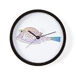 Cowfish fish Wall Clock