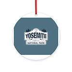 Yosemite National Park Mountain Signage Ornament (