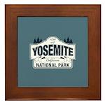 Yosemite National Park Mountain Signage Framed Til