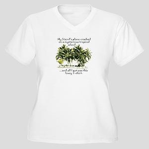 Lost Island T-Shirt Women's Plus Size V-Neck T-Shi