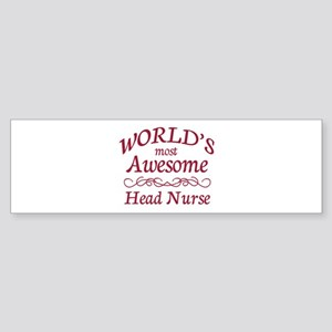 Awesome Head Nurse Sticker (Bumper)