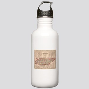 Vintage Map of Tenness Stainless Water Bottle 1.0L