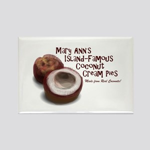 Mary Ann's Coconut Cream Pies Rectangle Magnet