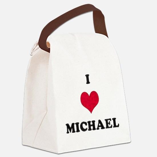 I Love Michael Canvas Lunch Bag