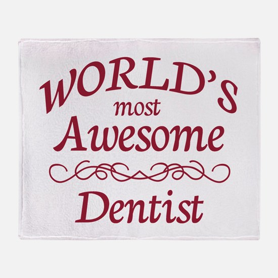 Awesome Dentist Throw Blanket
