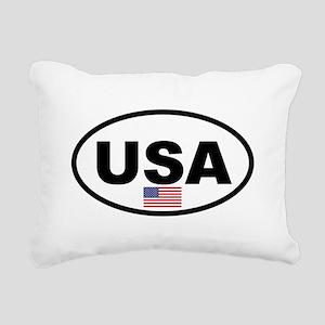 USA 3 Rectangular Canvas Pillow