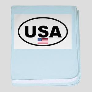USA 3 baby blanket
