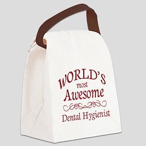 Awesome Dental Hygienist Canvas Lunch Bag